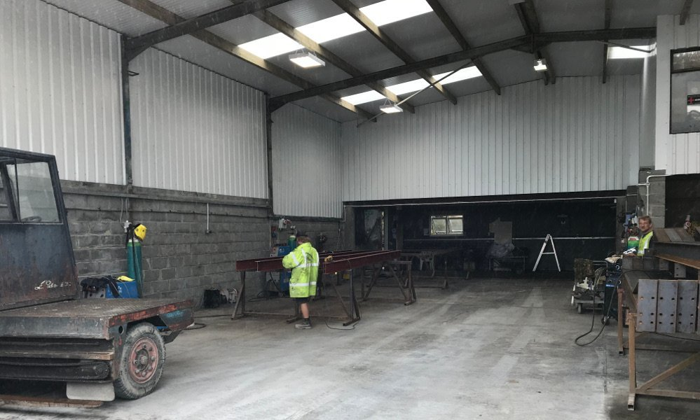 GLT & Son fabrication shed