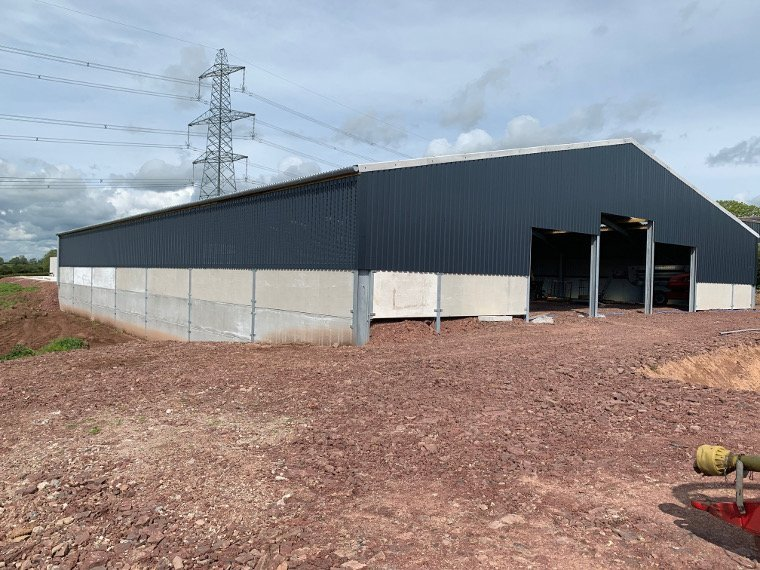 Newly constructed dairy building