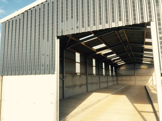 steel building with vented cladding