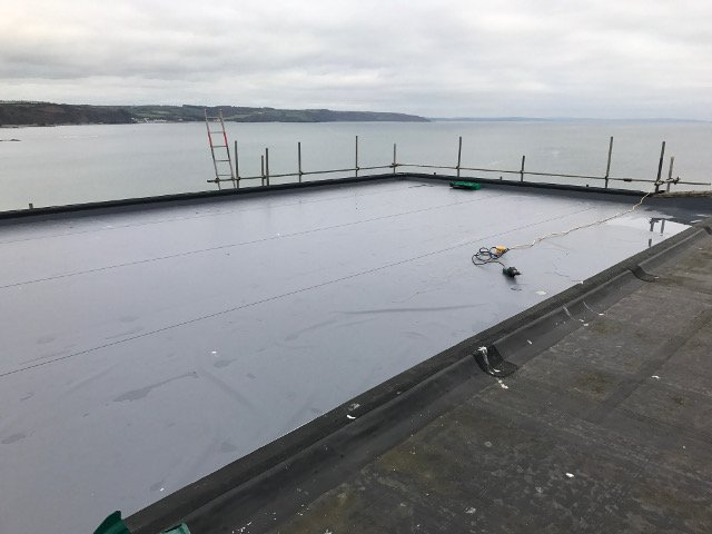 Single Ply hotel roof at Saundersfoot