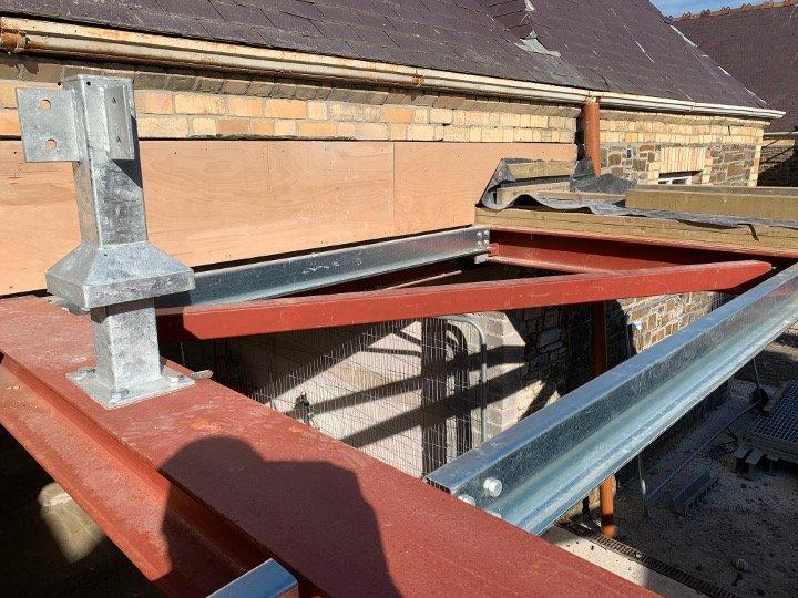 steel roof frame
