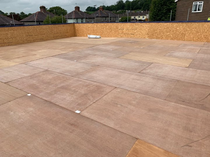 base for single ply roof