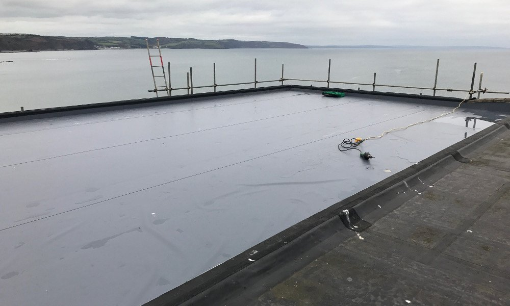 single ply roof refurbishment
